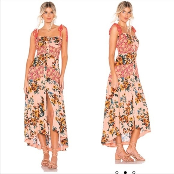 Free People Dresses & Skirts - Free People | Lover Boy Maxi Dress In Coral Combo